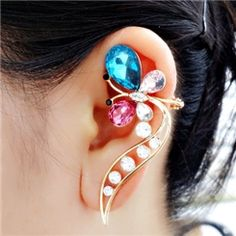 Pretty ButterflyCrystal Ear Cuff for Women from EricDresses on less price. Use coupon and promotional codes.