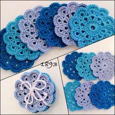 #crochet patroon van Karin aan de Haak #onderzetters #1893 #bleu Thread Crochet, Crochet Motif, Crochet Basics, Picture Design, Table Covers, Doilies, Elsa, Coasters, Place Mats