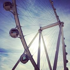 """The High Roller. Vegas' new giant Ferris wheel, """"The High Roller"""", is almost ready for operation!"""