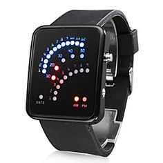 Men's Watch Digital 29 LED Red & Blue Light Black Silicone Strap. Grab substantial discounts up to 50% Off at Light in the Box using Coupons & Promo Codes