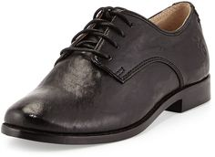 Frye Anna Lace-Up Leather Oxford, Black on shopstyle.com