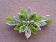 Kanzashi hair clip large by NatsEleganceBoutique on Etsy, $5.00
