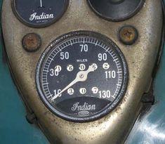 1940 Indian Chief dashboard