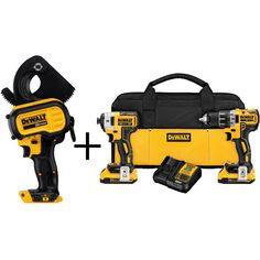 DEWALT 20-Volt MAX Lithium-Ion Cordless Cable Cutting Tool (Tool Only) with 20-Volt XR Brushless Combo Kit