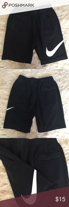 NIKE SWEATSHIRTS S NIKE sweatshorts.  Size S.  Side pockets, drawstring.  Pre owned, good condition ( lightly faded), pet/smoke free home Nike Shorts