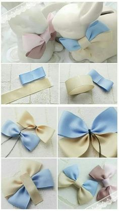 a pair of scissors and three strands of wide Stain Ribbon, you can handle this how to make hair bows plan rapidly.How to make Hair Bows - Free Hair Bow Tutorials Made the elephant for a friend and she loved it!DIY bow with simple instructions. Diy Ribbon, Ribbon Crafts, Ribbon Bows, Diy Crafts, Ribbons, Ribbon Flower, Making Hair Bows, Diy Hair Bows, Bow Making