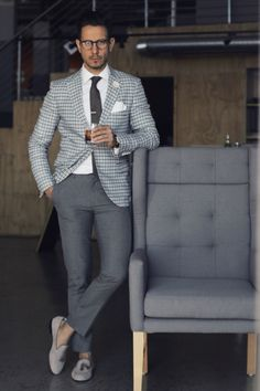 Looking for some smart business casual outfits? Try these 5 amazing business casual outfits you can try not to look sharp. Mens Fashion Blog, Fashion Mode, Suit Fashion, Classy Fashion, Fashion 2016, Fashion Clothes, Style Fashion, Fashion Shirts, Fashion Hair