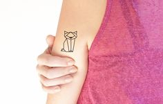 via en.dawanda.com Other – Geometric cat - Temporary Tattoo (Set of 2) – a unique product by TTTattoo on DaWanda