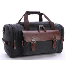 8d094c1f8a64 Source Vintage Foldable Men Gym Leather Canvas Travel Duffel Bag on  m.alibaba.com