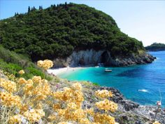 Rovinia beach, Corfu island http://www.liapades-bliss.com/walking-guide/rovinia.html