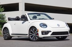 vw beetle convertible 2015 in white