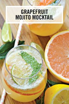 Looking for a drink recipe all your friends and family can enjoy this spring? Say hello to this Grapefruit Mojito Mocktail recipe! Lemon, lime, grapefruit, and sparkling water all combine to create this bubbly citrus beverage.