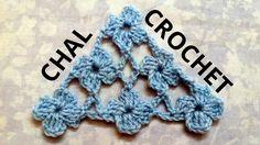 Como tejer un Chal en tejido crochet con Punto Margarita tutorial paso a...