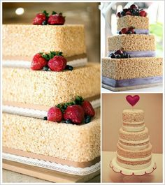 Yumm! Rice Krispie Wedding Cake