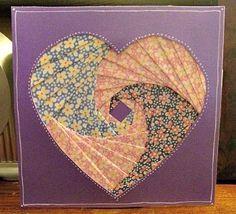 Iris paper folding   heart
