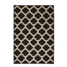 Home Depot (216$) :Ciudad Black/Natural 8 ft. 9 in. x 12 ft. 9 in. Area Rug