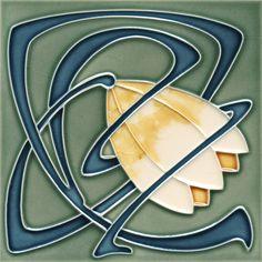Golem Kunst- und Baukeramik GmbH | Art Nouveau tiles decorated | Art Nouveau tiles1