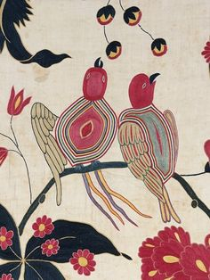 Detail of embroidered bed-hanging. Gujarat, c. 1700. Museum no IS 155-1953 © Victoria and Albert