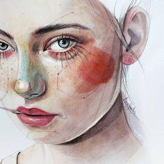"""4,070 次赞、 51 条评论 - A  n  a    S  a  n  t  o  s (@anasantos_illustration) 在 Instagram 发布:"""" Inspiración:@martabevacqua . . #art #artwork #arte #illustration #ilustracion #watercolor…"""""""