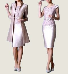 Cheap pink mother, Buy Quality mother of bride directly from China mother of bride dress Suppliers: Fashion Pink Mother of the Bride Dresses with Jacket Half Sleeves Scoop Lace Sheath Knee Length Wedding Party Gowns Custom Made Mother Of Groom Dresses, Mothers Dresses, Mother Of The Bride, Classy Wedding Guest Dresses, Elegant Dresses, Wedding Dresses, Embroidery Dress, Wedding Embroidery, Formal Gowns
