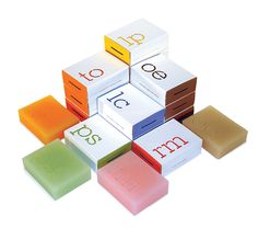 Colorful soap-in-esthetic-packaging.