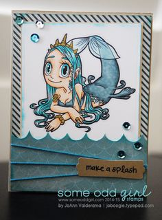 JoAnn Valderama using Mermaid Queen #digi from www.someoddgirl.com. #digitalstamp #mermaid #someoddgirl #summer
