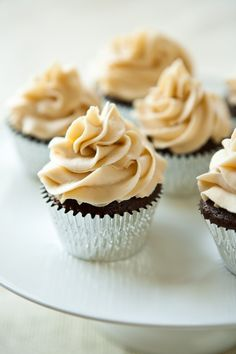 Chocolate Stout #Cupcakes with Irish Cream Buttercream