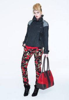 Red & Green #Military #Camouflage Pattern Pants in #Punk #Style  #Fashion #Trend for Fall Winter 2013  LAMBF/W 2013