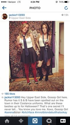 Serena and Blair Costume - PERFECTION. Need to do this next year !