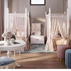 Gorgeous Shared Room Decor and Design Inspiration Little Girl Bedrooms, Girls Bedroom, Bedroom Decor, Kids Bedroom Designs, Baby Room Design, Cool Kids Rooms, My Bebe, Dream Rooms, Girl Room