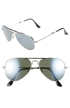 Ray-Ban 55mm Foldable Aviator Sunglasses available at #Nordstrom