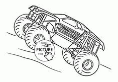 Blaze Monster Truck Cartoon coloring page for kids