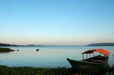 Jinja, Uganda: The source of the River Nile.