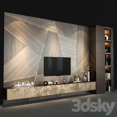 3d models tv wall - tv wall set 140 Living Room Wall Units, Living Room Tv Unit Designs, Ceiling Design Living Room, Home Room Design, Living Rooms, Tv Unit Decor, Tv Wall Decor, Wall Tv, Room Decor