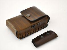 Leather Cigarette Case with Lighter Pocket Green от leatherline