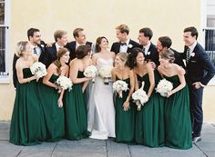 Emerald Green Wedding at William Aiken House Read more - http://www.stylemepretty.com/2014/03/26/emerald-green-wedding-at-william-aiken-house/