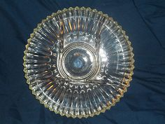 Crystal Clear Depression Glass 5 Part Divided Relish Plate Tray | eBay  | 33.99 + 17.50