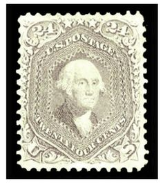 1861-66 24c brown lilac, well centered, lightly hinged, fresh and v.f., with 1998 PFC --- $2,000.00   2013year