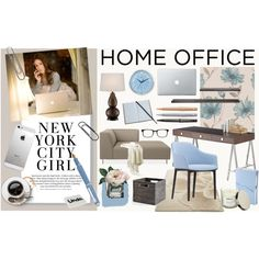 """Girle Home Office"" by szaboesz on Polyvore"
