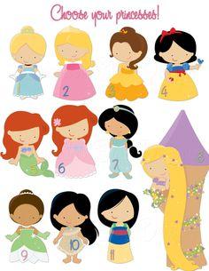 Disney Princess / Princesses Custom Birthday Invitation - Digital File, You Print Disney Princess Babies, Disney Princess Birthday Party, Disney Princess Party, Princess Theme, Little Princess, Disney Girls, Kids Birthday Themes, 4th Birthday, Little Girl Costumes