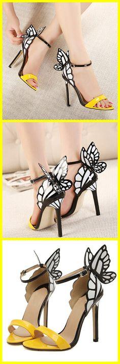 Stiletto Heel Butterfly Ankle Strap Sandals  #tbdressreviews #fashion #sandals #beauty #highheels