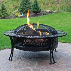 fire pits surround Sunnydaze 40 Inch Four Star Large Fire Pit Table with Spark Screen Fire Pit Bowl, Metal Fire Pit, Wood Burning Fire Pit, Fire Pit Table, Pergola Plans, Pergola Kits, Pergola Ideas, Patio Ideas, Firepit Ideas