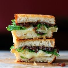 Bacon Jam and Brie Grilled Cheese