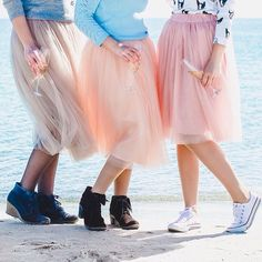 Розовая Белая юбка пачка_юбка для нее_юбка из от MyStylishFantasy