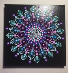"226 Likes, 10 Comments - Lori Wilkinson (@mafa_stones) on Instagram: ""New 8"" X 8"" canvas #mandala #meditation #mandalastones #meditationstones #dotartwork #mandalaart…"""