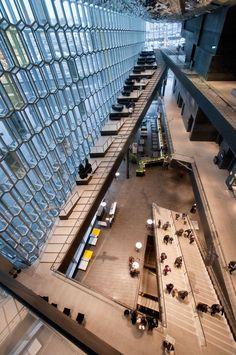 Iceland - Reykjavik - Harpa Interior - The atrium #iceland #europe