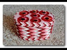 Плетение из бумаги в 3 трубочки / The weave of the paper 3 rolls - YouTube