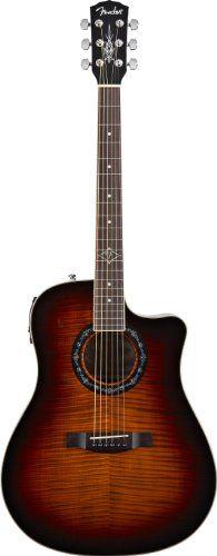 Fender T-BUCKET-300CE Dreadnought Acoustic-Electric Guitar, Flame Maple Top, 3 Tone Sunburst - http://www.learntab.com/guitar-deals/fender-t-bucket-300ce-dreadnought-acoustic-electric-guitar-flame-maple-top-3-tone-sunburst-2/