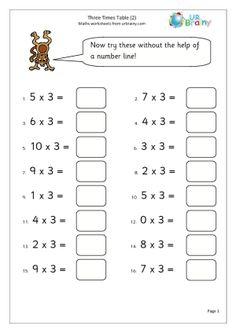 5 Times Table Worksheet