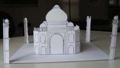 Easy Taj Mahal Printable craft for kids  Easier than the 3-D models